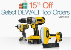 Dewalt Deal: 15% off Select Tools