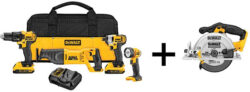 Last Call: One Day Deal on This Dewalt 20V Max 4+1pc Tool Kit