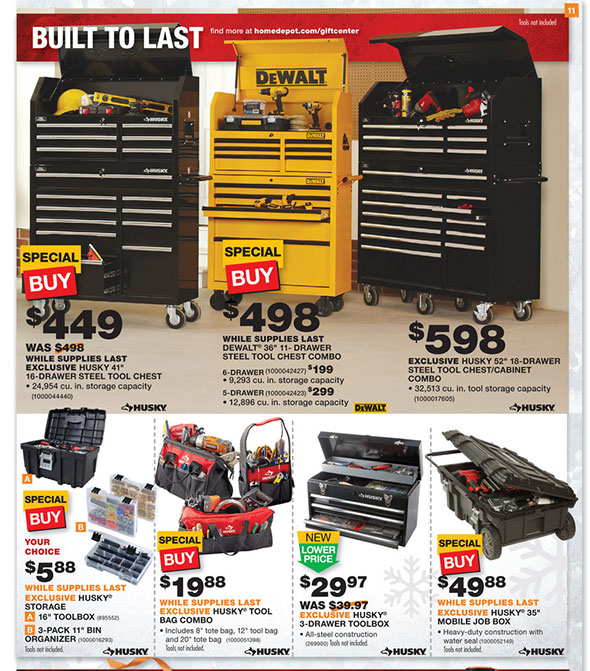 DEWALT 40 in. 11-Drawer Rolling Bottom Tool Cabinet and Top Tool ...