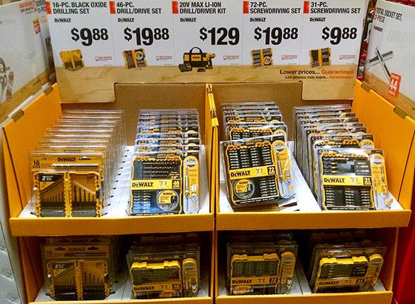 Home Depot Holiday Dewalt Bit Sets
