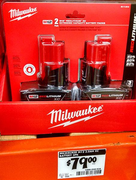 home depot milwaukee. home depot milwaukee m12 li-ion battery deal t
