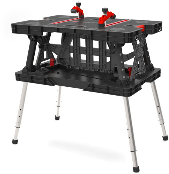 Deal: Keter Adjustable-Height Portable Folding Work Table