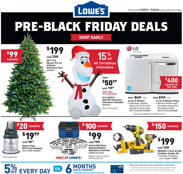 lowes pre black friday 2014 tool deals page 1 - Lowes Christmas Tree Sale