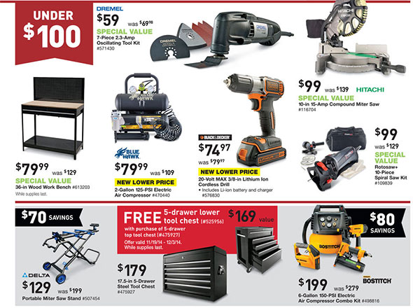 lowes pre-black friday 2014 tool sale
