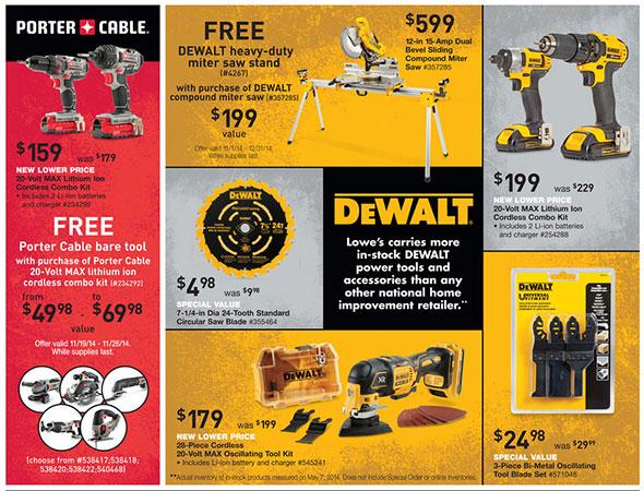 Lowes Pre Black Friday 2014 Tool Sale