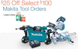 Early Holiday Deal: Makita $25 off $100+ Select Tools