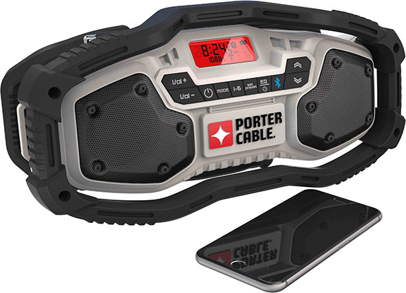 Porter Cable PCC771B Bluetooth Radio Size