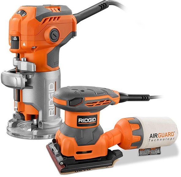 Ridgid Trim Router and Free Sheet Sander Bundle