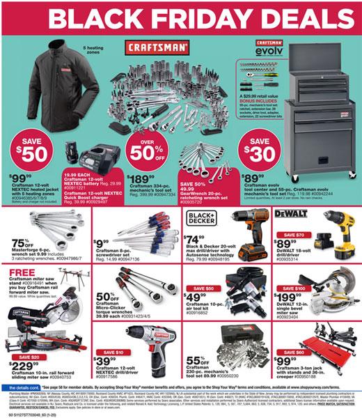 Sears Amp Craftsman Black Friday 2014 Tool Deals