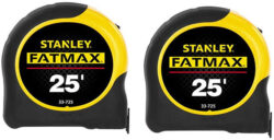 Stanley FatMax 25′ Tape Measure Double Pack
