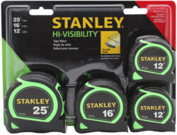 Holiday 2014 Deal: Stanley 4-Pack of Tape Measures for $10