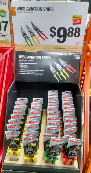 Wiss Snip Sale at Home Depot Holiday 2014