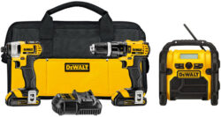 Deal of the Day: Dewalt 20V Max Drill, Impact Driver, Radio Combo Kit