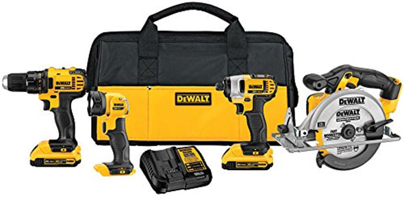 Amazon Deal of the Day Dewalt 20V Max 4Tool Combo for 249 229