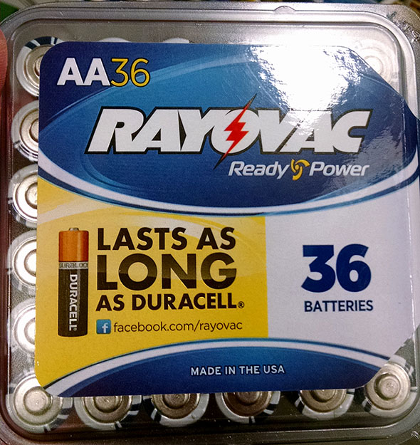 Rayovac AA 36-Pack Batteries Front