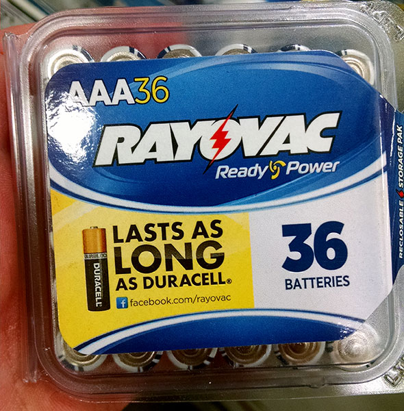 Rayovac AAA 36-Pack Batteries Front
