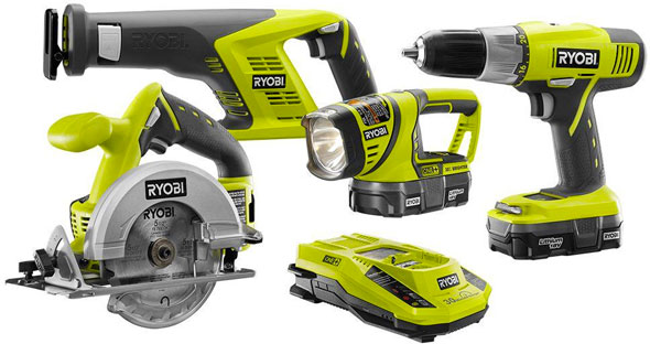 Deal ryobi 18v 4 tool combo kit for 139 greentooth Image collections