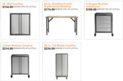 Deal of the Day: Gladiator Garage Storage Cabinets and a Workbench