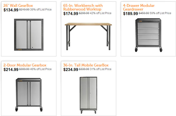 Deal Of The Day Gladiator Garage Storage Cabinets And A Workbench