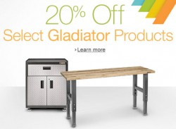 Save 25% on Select Gladiator Storage Products