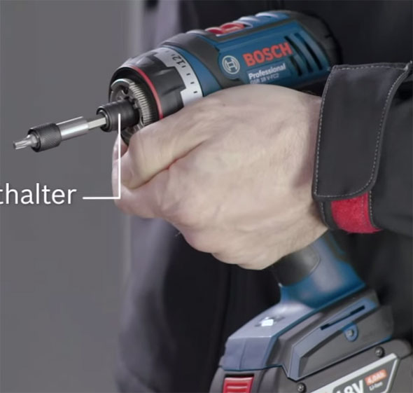 Bosch 18V Click and Work Driver Bare Chuck