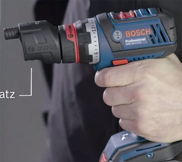 Bosch 18V Click and Work Driver with Offset Attachment