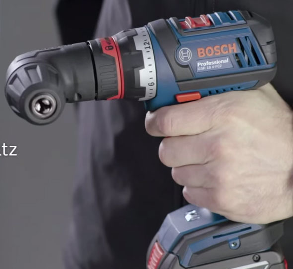 Bosch 18V Click and Work Driver with Right Angle Drill