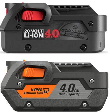 Chicago Pneumatic 20V and Ridgid 18V Battery Interface