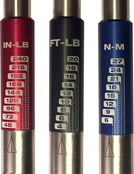 Fixt T Handle Torque Wrench Scale Options
