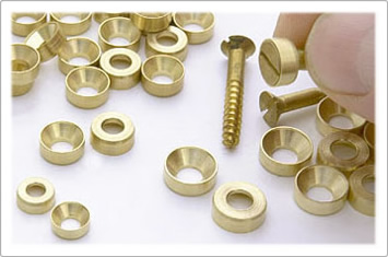 Mag-Blok machined brass washers