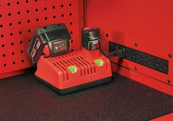 Milwaukee Ball Bearing Tool Chest Power Outlet