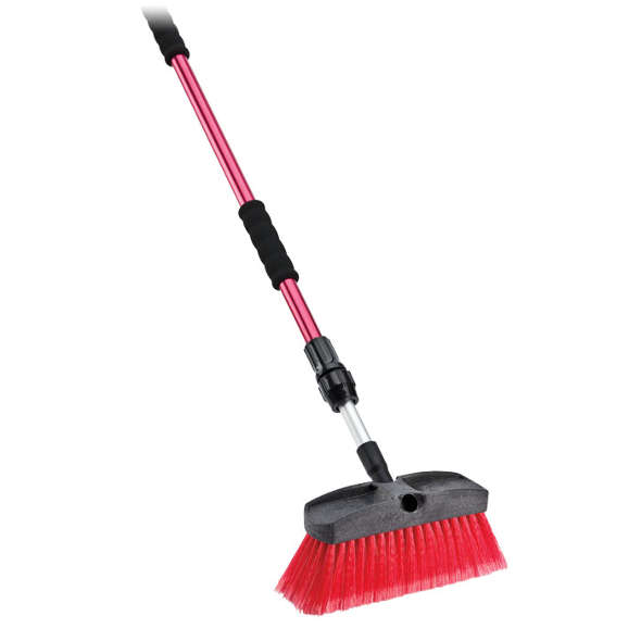 Libman Flow Thru Brush Broom With Water Valve And