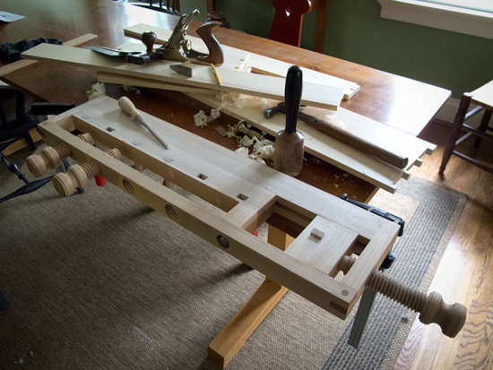 Take Your Woodworking Anywhere With This Portable Table Top Bench