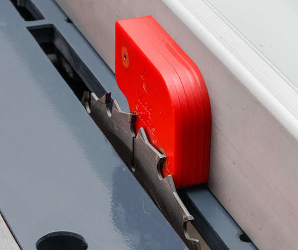 FastCap Magnetic Shims setting table saw fence