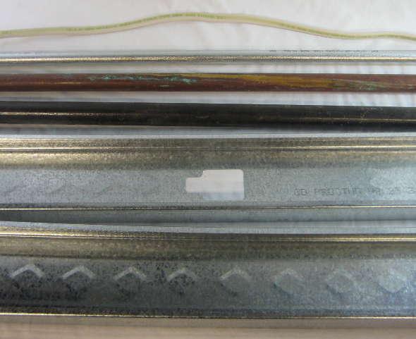 Metal studs,gas line copper pipe conduit romex