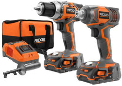 Hot Deal: Ridgid 18V Drill & Impact Driver Combo for $139