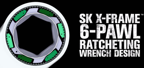 SK X-Frame Multi-Pawl Wrench Design