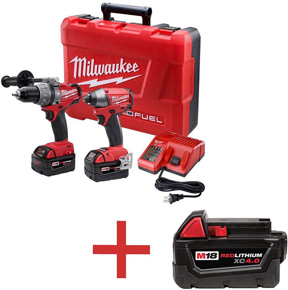 milwaukee m18 logo. milwaukee m18 fuel hammer drill and impact driver with free bonus battery logo k