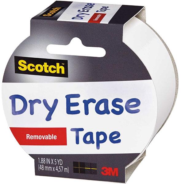 Scotch Whiteboard Dry Erase Tape