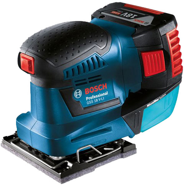 new bosch 18v cordless 1 4 sheet sander. Black Bedroom Furniture Sets. Home Design Ideas