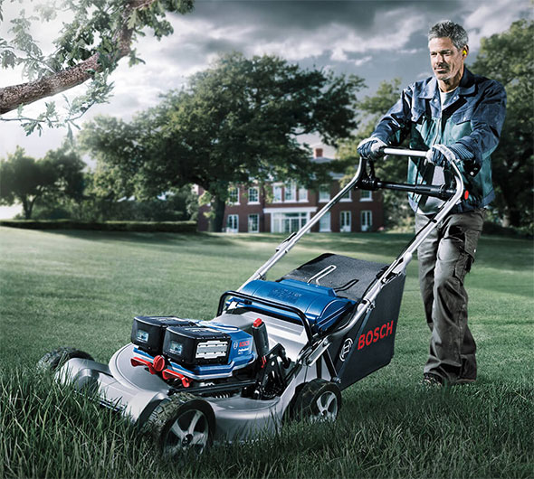 Bosch Double Battery Cordless Lawn Mower