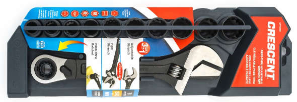 Crescent 3in1 wrench packaging