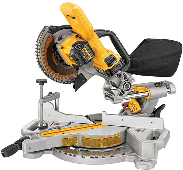 Dewalt DCS361 Cordless Miter Saw 20V Max Side View