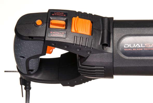 DualSaw reciprocating saw rotating handle closeup