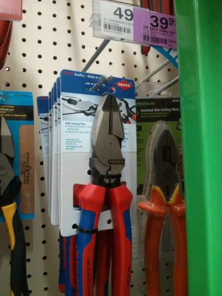 Knipex 9 inch high leverage linesman pliers at Menards