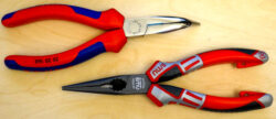 'Knipex or NWS Pliers? Oh, What a Stumper!' from the web at 'http://toolguyd.com/blog/wp-content/uploads/2015/04/Knipex-vs-NWS-Long-Nose-Pliers-250x108.jpg'