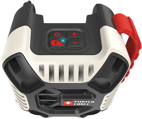 Porter Cable 20V Bluetooth Speaker PCC772B Controls