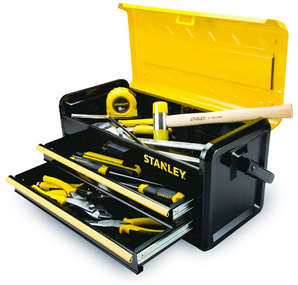 new stanley metal tool boxes