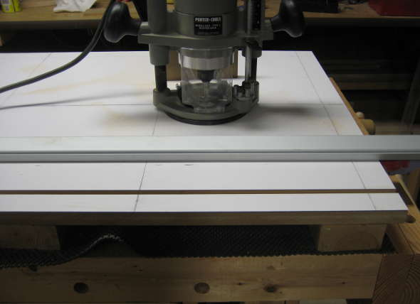 Project making a t track table top on a budget cutting the groove with a router first greentooth Gallery