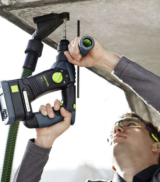 Festool Drill Dust Extractor on the ceiling